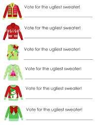 ugly christmas sweater award certificate template cardigan ugly christmas sweater award certificate template 7