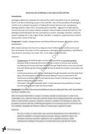 two cold war  origins  essay plans   year  hsc   modern history    two cold war  origins  essay plans