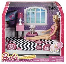 amazoncom barbie doll and bedroom furniture set toys games barbie bedroom furniture
