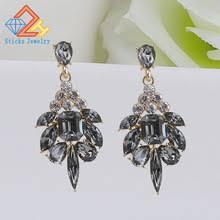 trendy big crystal earrings for   hram-zalomnoe.ru