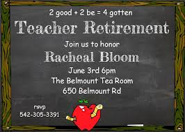 retirement party invitations custom designed new for spring 2017 teacher retirement party invitations