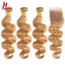 <b>HairUGo Peruvian Hair Bundles</b> With Closure Body Wave Bundles ...