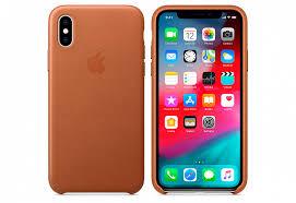 Купить <b>Чехол Apple Leather</b> Case для iPhone XS, золотисто ...