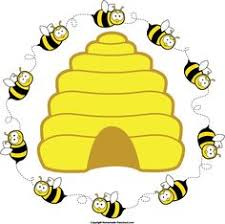 Image result for bee hive with bumble bees clip art