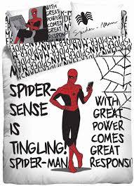 <b>Комплект постельного белья Marvel</b>, белый, красный, черный, 1,5 ...