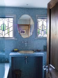 blue modern bathroom mediterranean metro