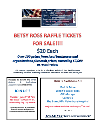 b ross raffle tickets now available burnt hills bpa raffle ticket s poster modified