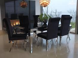 table chairs vegas black glass