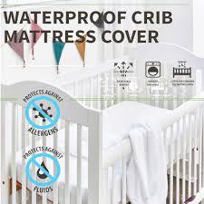 Crib 72X132CM <b>Baby</b> Mattress Cover All Natural Waterproof Topper ...