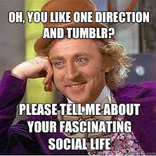 OH, YOU LIKE ONE DIRECTION AND TUMBLR? PLEASE TELL ME ABOUT YOUR ... via Relatably.com