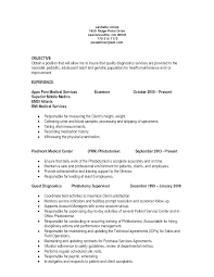 skills resume sample resume assistant cover phlebotomy resume