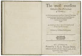 shakespeare s life shakespeare library 1600 quarto of merchant of venice