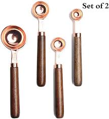 Rose Gold Plated Stainless Steel Measuring Spoons ... - Amazon.com