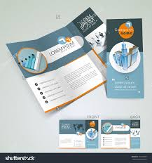 professional business three fold flyer template stock vector professional business three fold flyer template corporate brochure or cover design in blue color