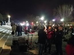 protest scenes from monday tuesday night at supreme court photo 20 television cameras set up in front ot the supreme court as
