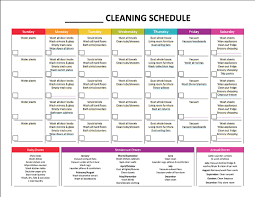 best ideas about weekly cleaning schedules complete housekeeping printable set