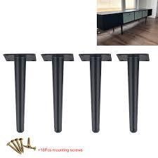 <b>4Pcs Straight</b> cone Furniture table legs 25/30CM Metal Sofa ...