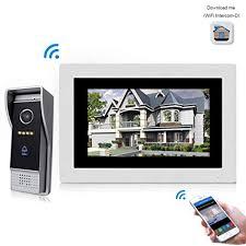 Jeatone 7 Inch Wired WiFi IP Video Door Phone ... - Amazon.com