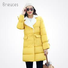<b>2018 Brieuces 2018</b> Female Women <b>Winter Coat</b> Double Breasted ...
