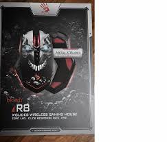 <b>Беспроводная мышь A4Tech</b> Bloody R8 metal feet Skull design USB