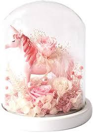 Unicorn <b>Eternal Flower</b> Gift <b>Box</b> Rose <b>Finished</b> Glass Cover ...