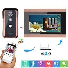 <b>7 Inch</b> Video Doorbell Intercom IR-CUT <b>Wired Wifi</b> View angle 92 ...