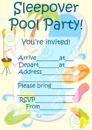 invitations for sleepover party sleepover pool party invitation invitations for sleepover party sleepover pool party invitation