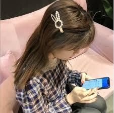 2019 <b>Korean Popular</b> Rabbit <b>Pearl</b> Rhinestone Hairpin Sweet Cute ...
