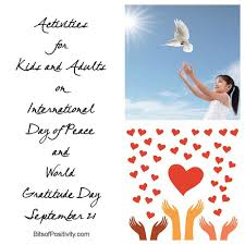 Activities for Kids and Adults on International Day of Peace and ...