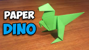 How To Make an Easy <b>Origami</b> Dinosaur - YouTube