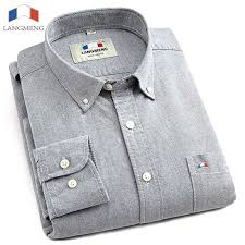<b>Langmeng</b> 2019 100% Cotton <b>Spring Mens</b> Casual Shirt Long ...