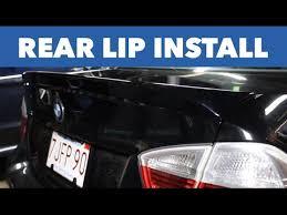 <b>Rear</b> Lip <b>Spoiler</b> Installation // BMW <b>E90</b> - YouTube