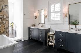 bathroom cabinets dark finished metal mirror