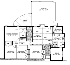 Canfield One Story Home Plan D    House Plans and MoreCountry House Plan First Floor   D    House Plans and More