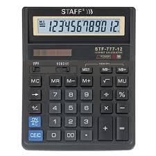 <b>Калькулятор Staff</b> настольный <b>STF</b>-<b>777</b>, 12 разрядов, двойное ...