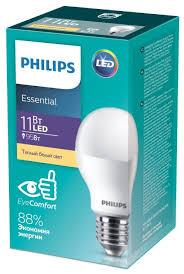 <b>Лампа светодиодная Philips</b> Essential <b>LED</b> 3000К, <b>E27</b>, 11Вт ...