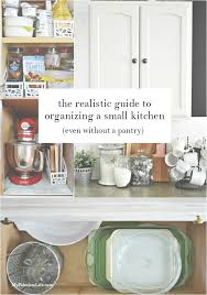 realistic guide organizing small kitchen