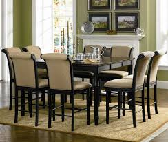 piece dining set rich cappuccino coaster cabrillo  piece counter height dining set coaster fine furnitu