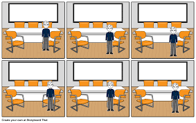 mock job interview comic strip assignment storyboard