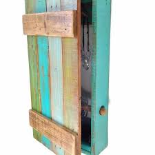 Barn Door <b>Hanging Wood Jewelry</b> Organizer and Display <b>Cabinet</b> Box