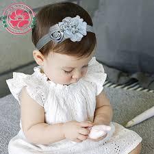 <b>12pcs</b>/<b>lot</b> Newborn Stain Rose Pearl Chiffon Flower Rhinestone ...