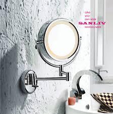 lighted makeup mirrors vs wall mounted vanity mirror bathroom makeup lighting