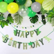 Jungle Party Decoration <b>Dinosaur Balloons Happy</b> Birthday Paper ...