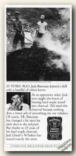 vintage drinks advertisements of the s page  jack daniels mr bateman making maple charcoal 1985