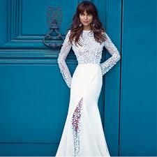 <b>Verngo Mermaid</b> Boho Wedding Dress Long Sleeves Wedding ...
