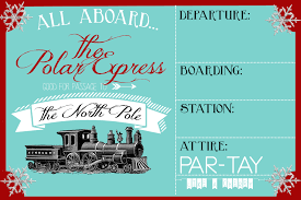 christmas party invitation party like a cherry polar express party invitation