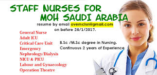 nurses job vacancy urgent vacancies for female staff nurses for kingdom of saudi arabia is arriving to conduct the interview at new delhi and cochin for b sc m sc female staff nurses as follows