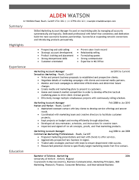 marketing executive cv sample marketing s resume example account gallery of sample marketing director resume