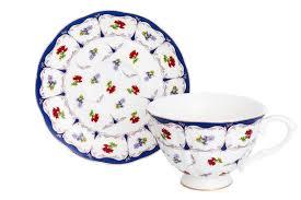 <b>Чайная пара</b> 2 предмета 250 мл <b>Elan Gallery</b> Цветочек чашка на ...