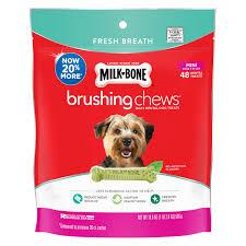 Milk-Bone® Brushing Chews® | <b>Fresh</b> Breath <b>Dog Snacks</b> - Mini